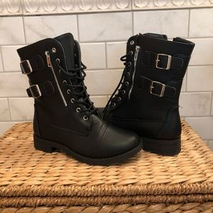 Charlotte Russe NWT black lace up boots
